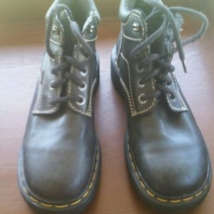 Doc Marten size 7 black leather  boots